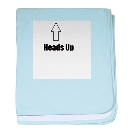 Heads Up baby blanket