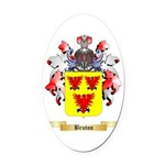 Bruton Oval Car Magnet