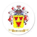 Bruton Round Car Magnet