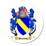 Bruneton Round Car Magnet