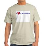 I Love Capitalism Ash Grey T-Shirt