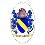 Brunelli Sticker (Oval 10 pk)