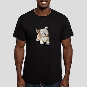 Curious GIT Men's Fitted T-Shirt (dark)