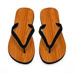 Amber Wood Grain Flip Flops
