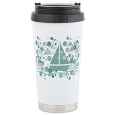 Cute Mint Sailing Fan Travel Mug Mugs