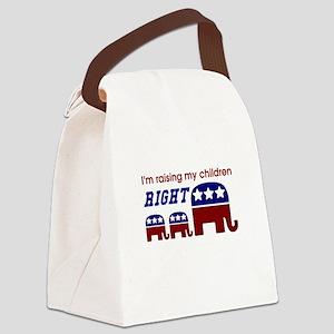 Raising My Children Right Canvas Lunch Bag