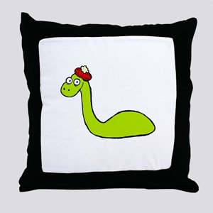 Loch Ness Monster Throw Pillow