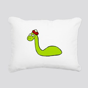 Loch Ness Monster Rectangular Canvas Pillow