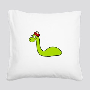 Loch Ness Monster Square Canvas Pillow