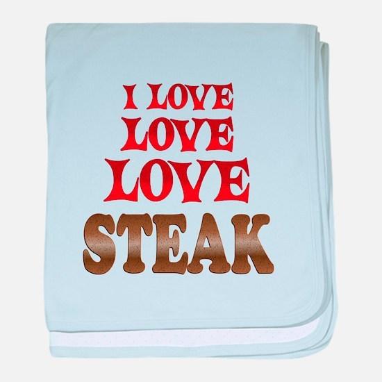 Love Love Steak baby blanket