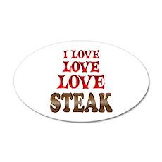 Love Love Steak Wall Decal