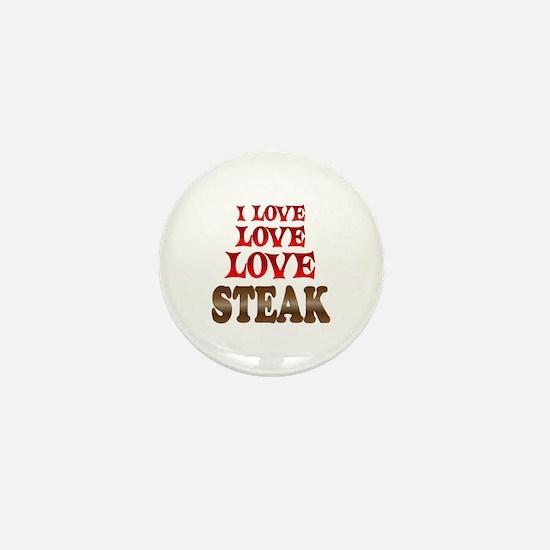 Love Love Steak Mini Button