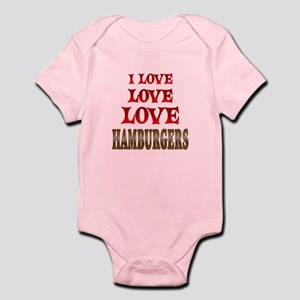 Love Love Hamburgers Infant Bodysuit