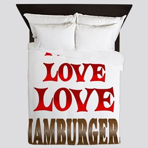 Love Love Hamburgers Queen Duvet