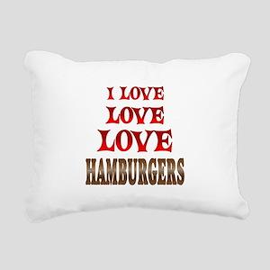 Love Love Hamburgers Rectangular Canvas Pillow
