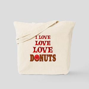 Love Love Donuts Tote Bag