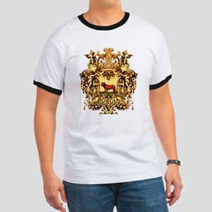 Ornate Borgia Coat Of Arms Ringer T