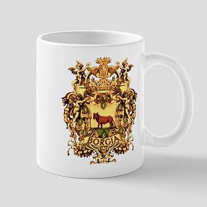 Ornate Borgia Coat Of Arms Mug