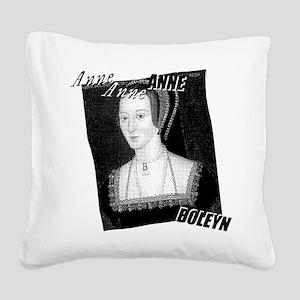 Anne Boleyn Graphic Square Canvas Pillow