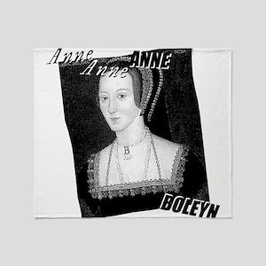 Anne Boleyn Graphic Throw Blanket