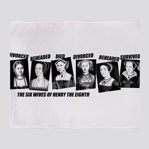 Henry VIII Wives Divorced Beheaded Throw Blanket