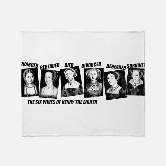 Henry VIII Wives Divorced Beheaded Throw Blanket