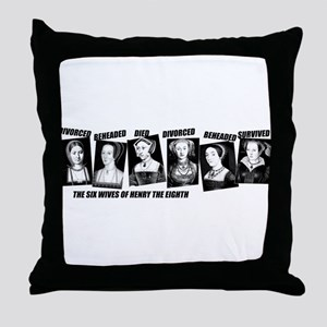 Henry VIII Wives Divorced Beheaded Throw Pillow