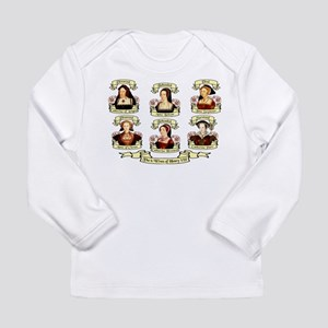 Fates Of Henry VIII Wives Long Sleeve Infant T-Shi