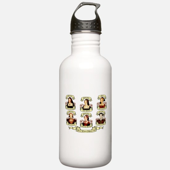 Fates Of Henry VIII Wives Water Bottle