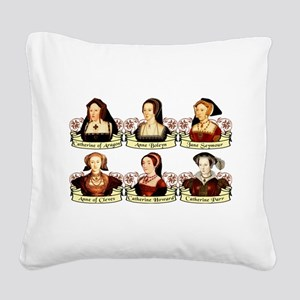 Six Wives Of Henry VIII Square Canvas Pillow
