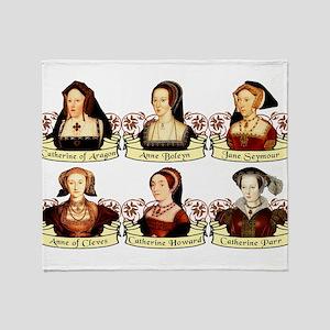 Six Wives Of Henry VIII Throw Blanket