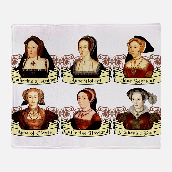 Six Wives Of Henry VIII Throw Blanket