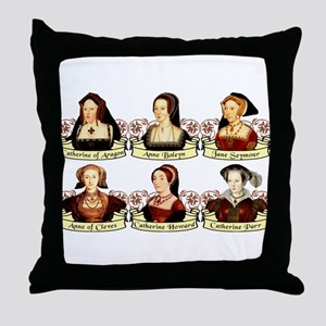 Six Wives Of Henry VIII Throw Pillow