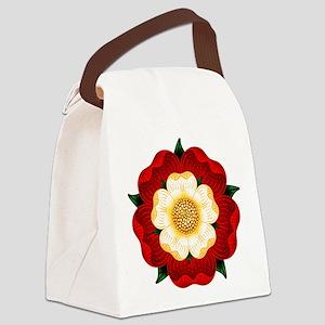 Tudor Rose Canvas Lunch Bag