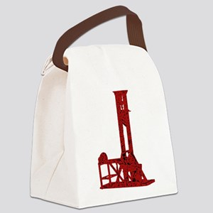 Red Guillotine Canvas Lunch Bag