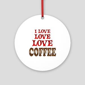 Love Love Coffee Ornament (Round)