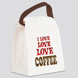 Love Love Coffee Canvas Lunch Bag