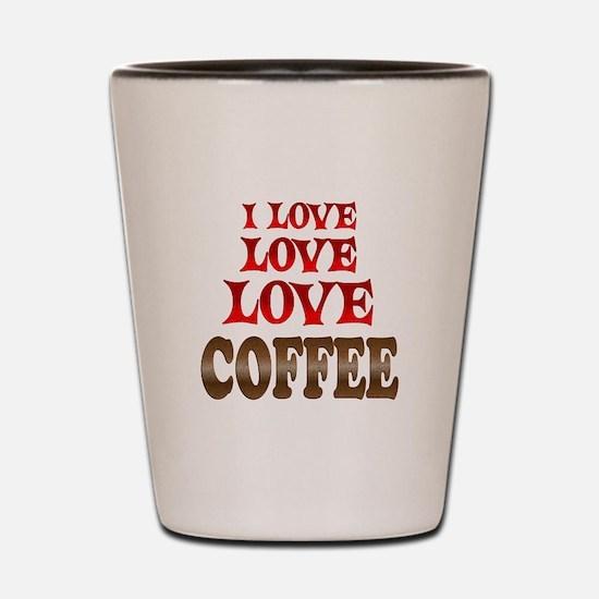 Love Love Coffee Shot Glass