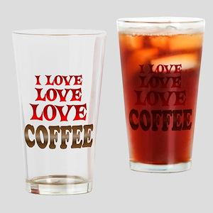 Love Love Coffee Drinking Glass