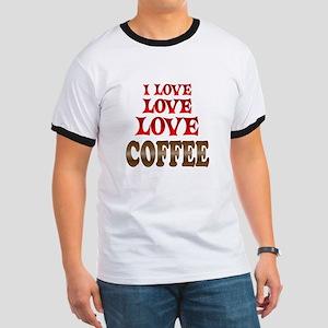 Love Love Coffee Ringer T