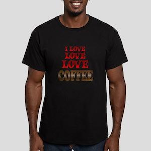 Love Love Coffee Men's Fitted T-Shirt (dark)