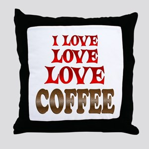 Love Love Coffee Throw Pillow
