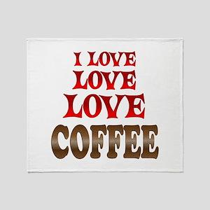 Love Love Coffee Throw Blanket