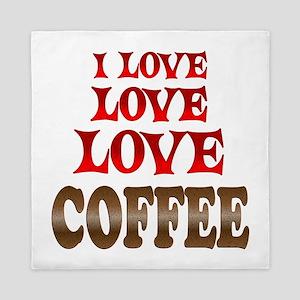 Love Love Coffee Queen Duvet