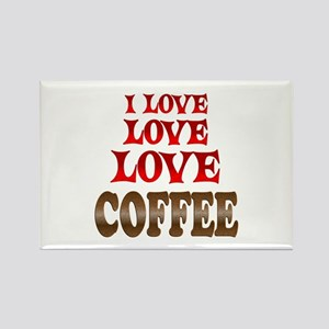 Love Love Coffee Rectangle Magnet