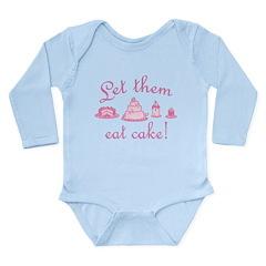 Sweet Pink Let Them Eat Cake Long Sleeve Infant Bo