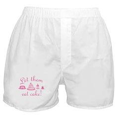 Sweet Pink Let Them Eat Cake Boxer Shorts