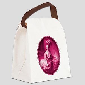 Marie Antoinette Pink Portrait Canvas Lunch Bag
