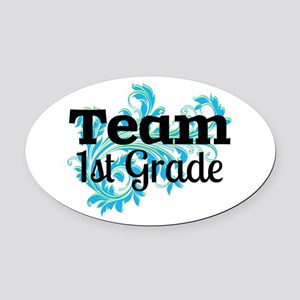 Team First Grade Oval Car Magnet