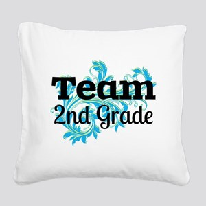 Team 2nd Grade Square Canvas Pillow